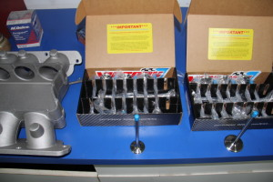 Victory stainless steel intake valves and Inconel exhaust valves for a Twin Turbo build with DCI RA5 heads.